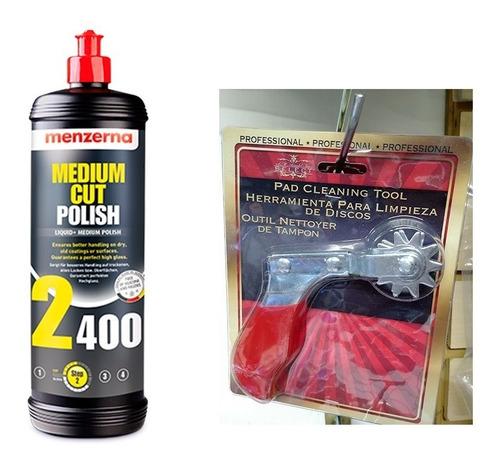 kit menzerna 2400 lt y espuela limpieza borlas lana