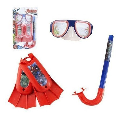 kit mergulho infantil avengers marvel criança snorkel