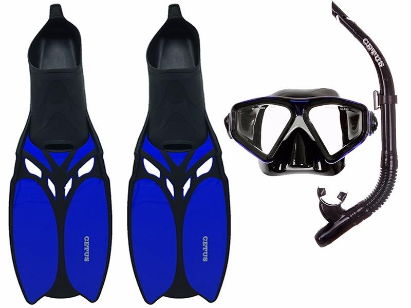 b8289df54 Kit Mergulho Máscara+nadadeira+snorkel Cetus Shark Cetus - R  197