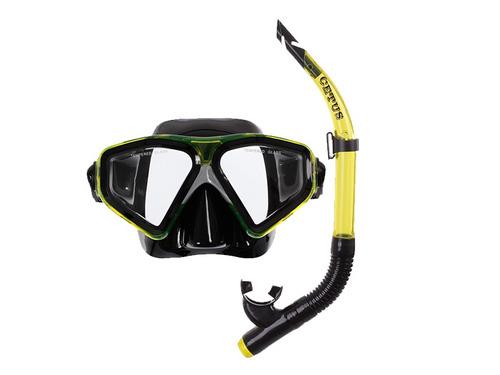 kit mergulho máscara snorkel com válvula new parma cetus