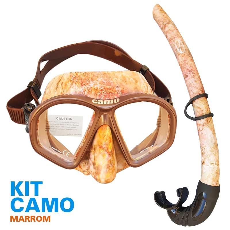 kit mergulho para praia apneia e pesca sub camo marrom. Carregando zoom. 64e159c1bde