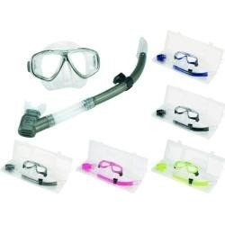 kit mergulho seasub mascara silicone + nadadadeira + snorkel