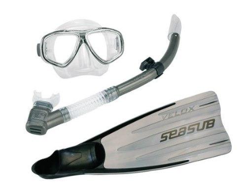 kit mergulho seasub mascara snorkel  nadadeira