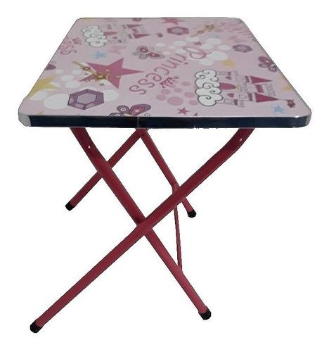 kit mesa infantil escolar mesinha dobravel com cadeira  em m