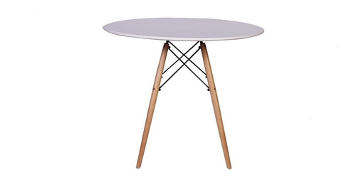 kit mesa jantar eiffel 120cm branca +4 cadeiras eames eiffel