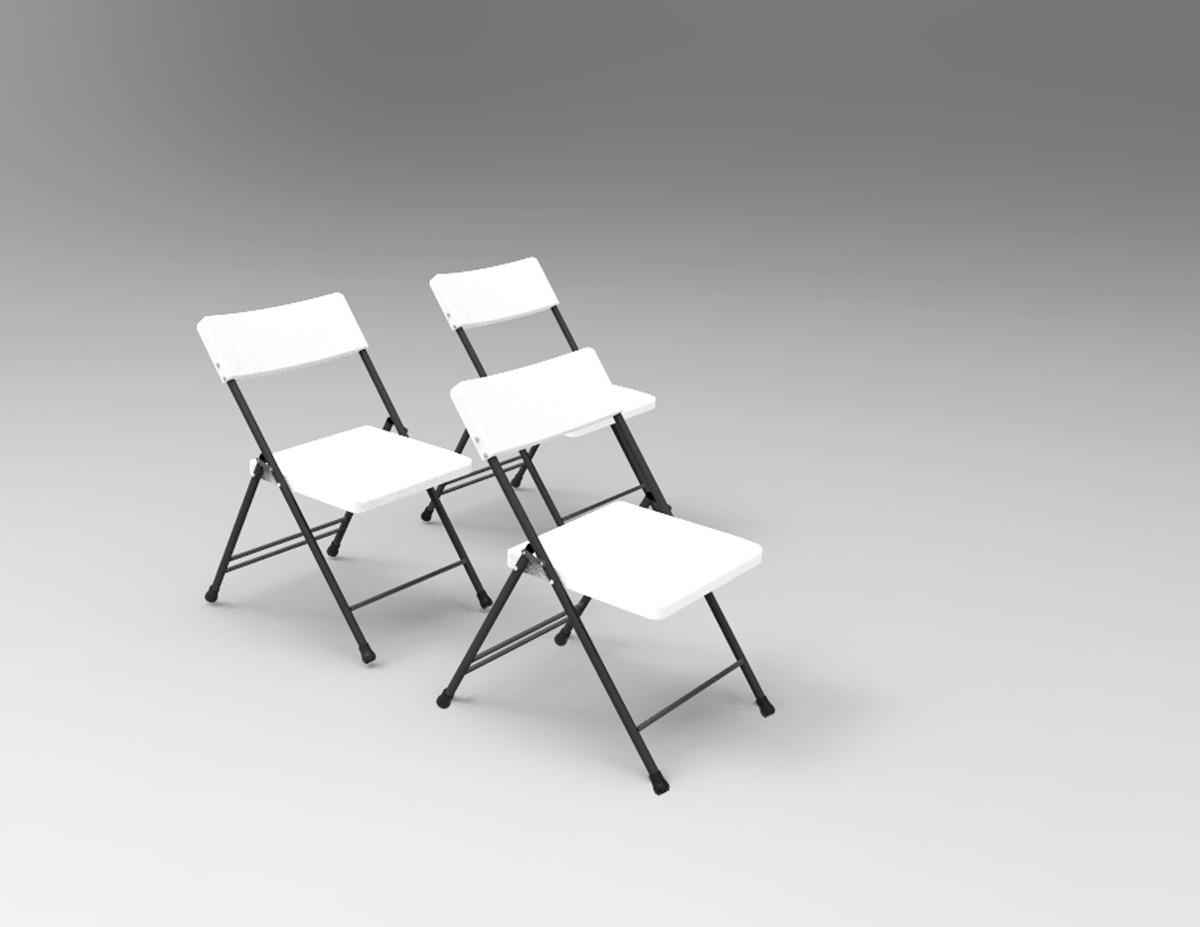 Kit mesa redonda plegable y 8 sillas 5 en for Mesa plegable sillas incorporadas