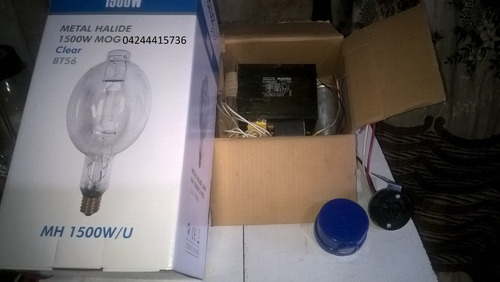 kit metal halide 1500w multivoltaje 120 a 480 vac + bombillo