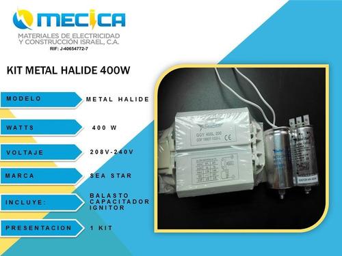 kit metal halide 400w 220v para reflector