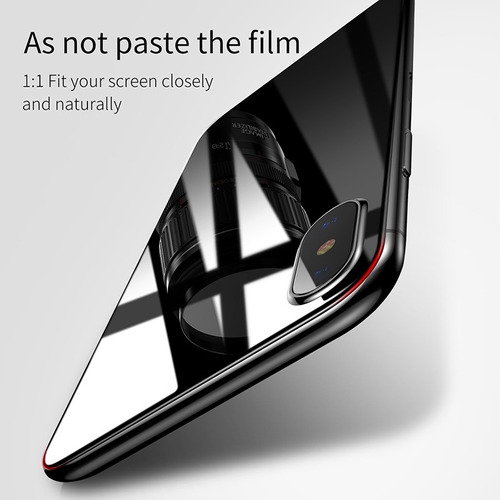 kit mica vidrio templado delantero - trasero iphone x baseus