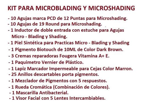 kit microblading microshading maquillaje permanente cejas 3d