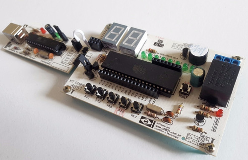 kit microcontrolador 8051 at89s52 usbasp arduino shield
