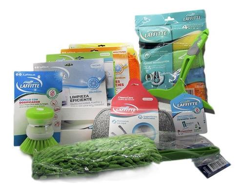 kit microfibras limpieza nuevo hogar 12 piezas laffitte home