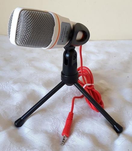 kit microfone sf666 + extensor + lapela p3 + adaptador p3