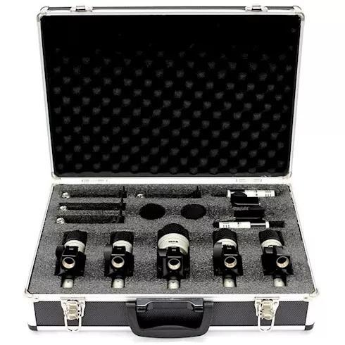 kit microfone vokal para bateria vdm7 (7 peças) novo