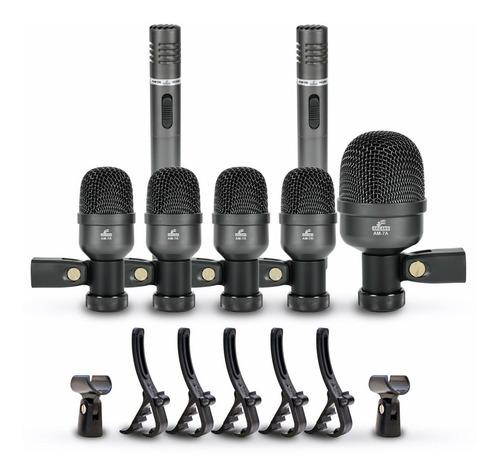 kit microfones de bateria arcano am-7a maleta