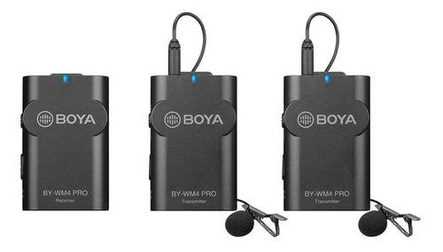 kit micrófono boya  by-wm4 pro k2 inalámbrico doble
