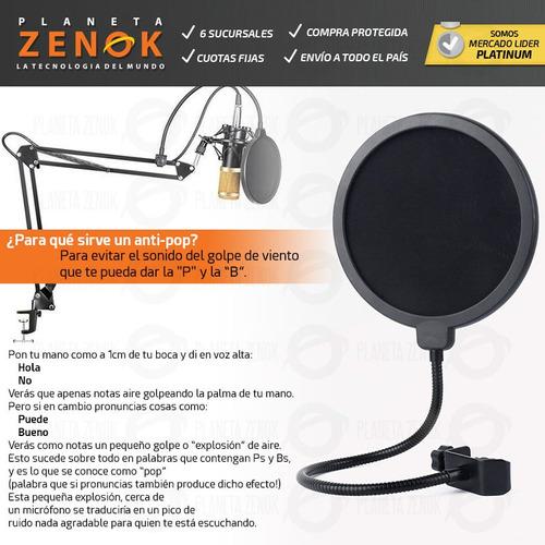 kit microfono condenser youtube stream estudio brazo filtro