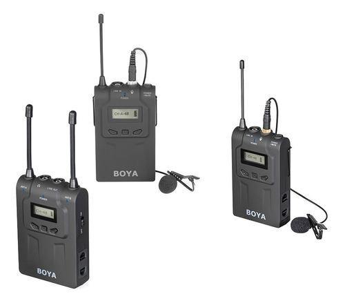 kit microfono inalambrico uhf 2 emisores 1 receptor boya-wm8