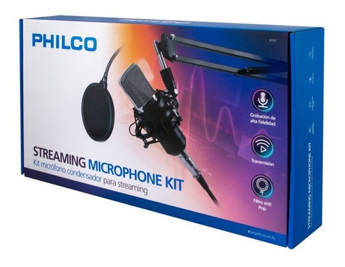 kit microfono streaming +antipop+soporte+stand - revogames