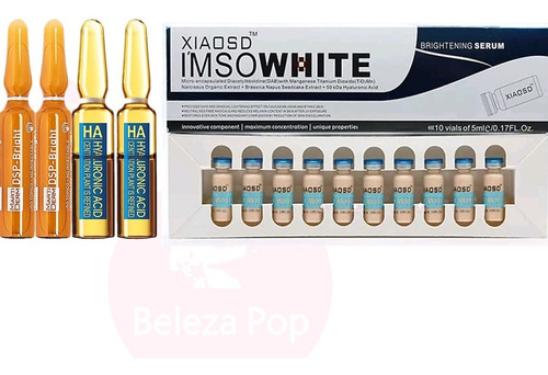 kit micromake bb glow completo 10 pigmentos nº 2 + 4 séruns