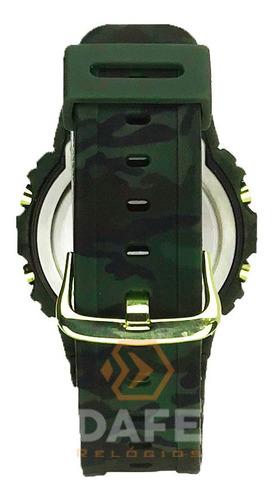 kit militar relógio e canivete camuflado originais c/ caixa