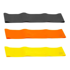 Kit Mini Band 3 Níveis - Elástico Funcional Fitness Loops