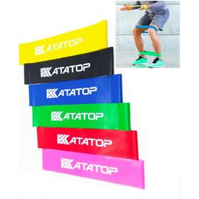 Kit Mini Band Faixas Elástica Faixa Extensora Pilates Com 6