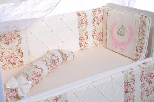 kit mini berço luxo arabesco canaa  8 peças