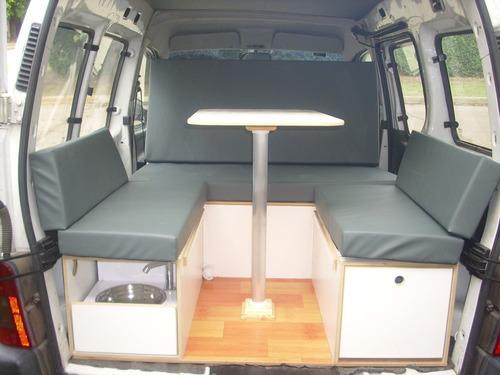 kit mini camper deluxe para partner berlingo y kangoo