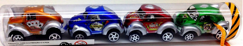 kit mini carrinhos miniatura tubo 04 und