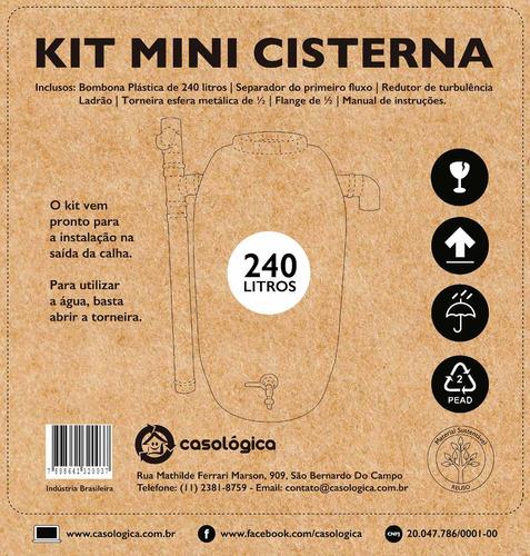 kit mini cisterna 240l - bombona para coleta!