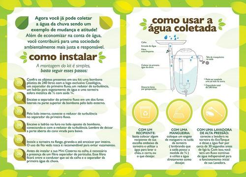 kit mini cisterna 240l - bombona / tambor / barrica / chuva