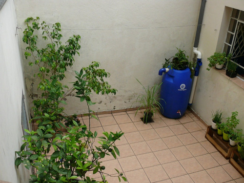 kit mini cisterna 240l - bombona / tambor reuso água em 12x!