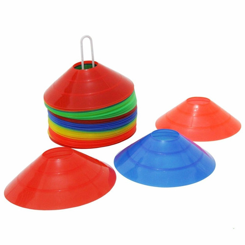 kit mini cone chapéu chinês demárcarorio 10 un + cronômetro