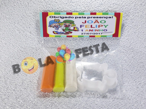 kit mini massinha + modelador personalizados (50 unidades)