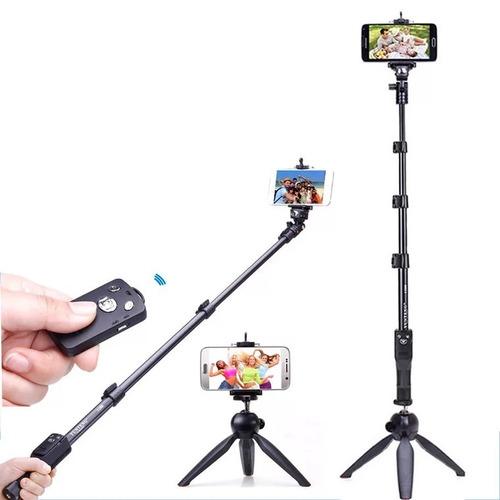 kit mini tripé 228 bastão pau selfie monopod 1288 yunteng