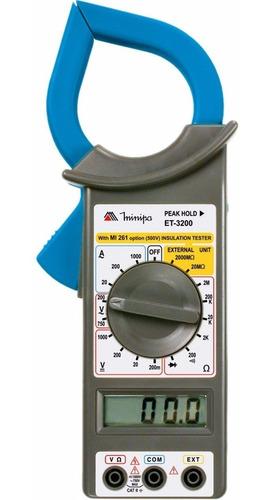 kit minipa amperímetro et-3200 + detector tensão ezalert i