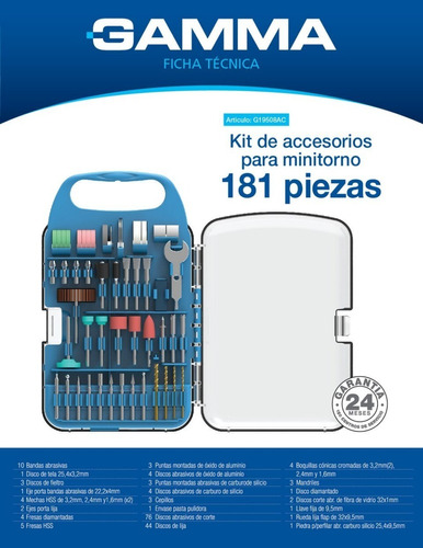 kit minitorno gamma accesorios 181 piezas