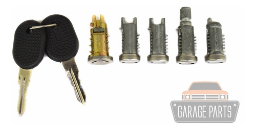 kit miolos portas + fechadura batente botão mala uno 96 a 03
