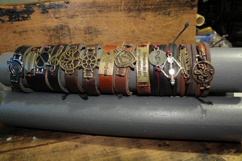kit mix atacado pulseiras pingente ancora masculina feminina