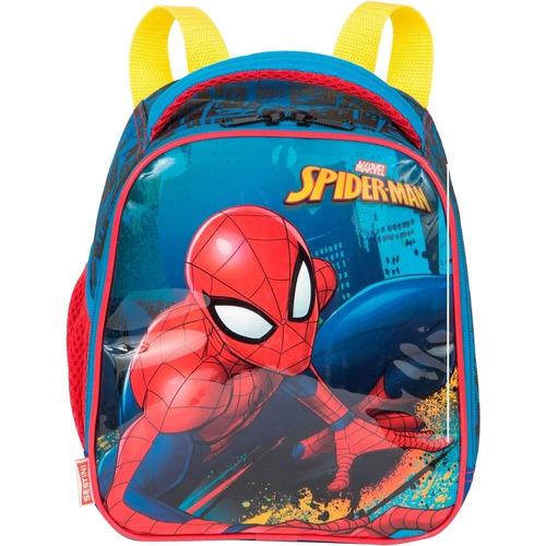 kit mochila 3d spider man infantil rodinhas c/lancheira e es
