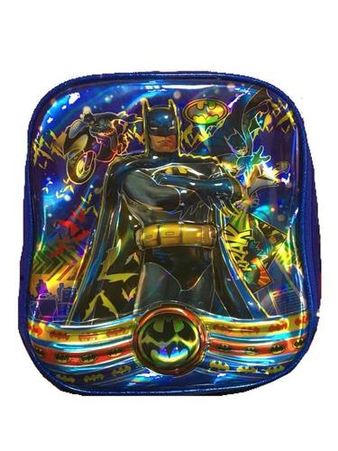 kit mochila batman carrinho rodinha infantil escolar