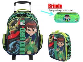 6aba40f04 Mochila Escolar Ben 10 Preto E Verde Dermiwil 36953 no Mercado Livre Brasil