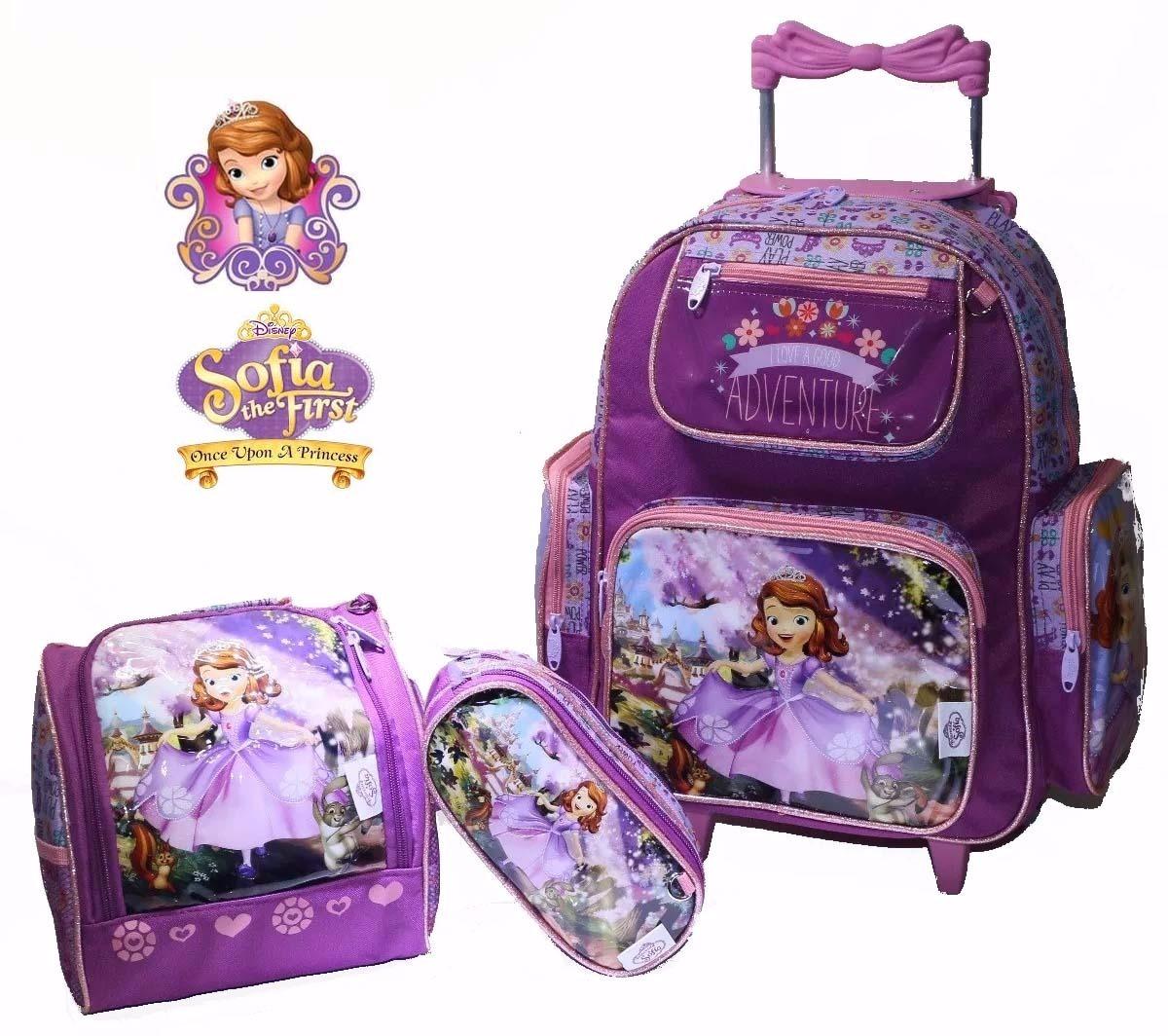 7f775cb0f5 kit mochila c  rodinha princesa sofia + lancheira + estojo. Carregando zoom.