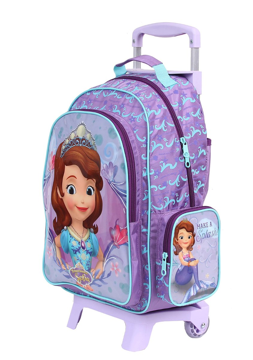 b2fb14a55 kit mochila carrinho m +estojo + lanch princesa sofia purple. Carregando  zoom.