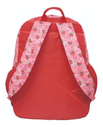 kit mochila costa + lancheira + estojo o show da luna melancia pacific