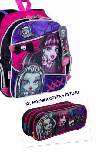 kit mochila costa monster hight  + estojo original