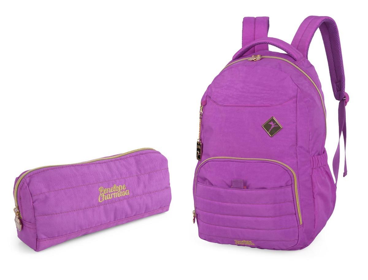 9c2d9ca55 kit mochila costas + estojo penélope charmosa mj48364pe. Carregando zoom.