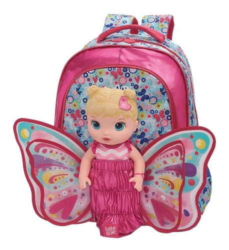 kit mochila costas g baby alive butterfly 980b04 pacific