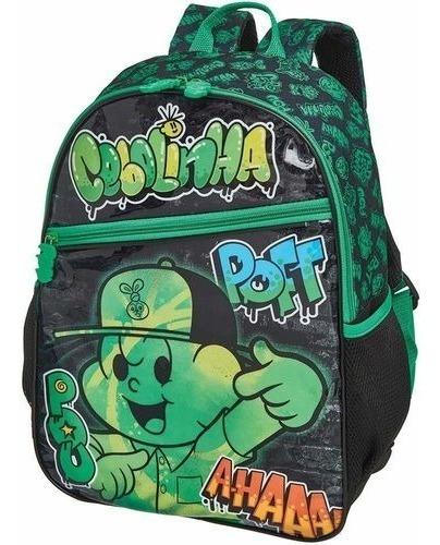 kit mochila costas lancheira estoj cebolinha grafitt pacific